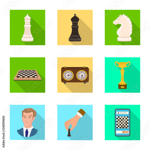 фотография  Vector design of checkmate and thin logo