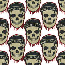 Skull Pattern Design Isolated On White Background