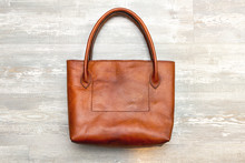 Brown Leather Handmade Tote Sh...