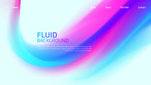 Trendy Fluid Gradient Background For Landing Page Background, Colorful Abstract Liquid 3d Shaped. Futuristic Design Backdrop For Banner, Poster, Cover, Flyer, Presentation, Advertising