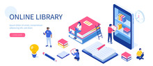 Media Book Library Concept. Ca...