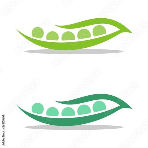 Foto Green Seed Pea Pod Logo Template