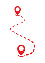 Location Pin Or Map Pointer Icon, Vector Symbol
