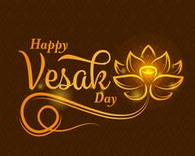 Happy Vesak Day Banner With Ab...