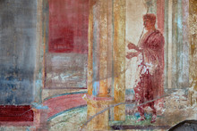 Clothing In Ancient Rome, Figure Of A Roman Man Painted In A Fresco In A Domus Of Pompeii