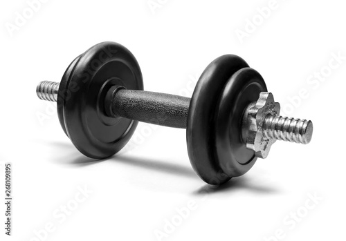 Fotografia Dumbbells isolated on white background with clipping path