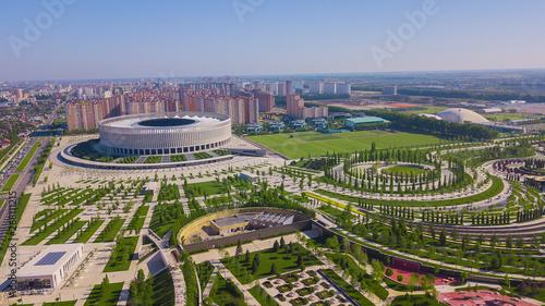 Fotografie, Obraz  Krasnodar, Russia - May 2019: Aerial view of Krasnodar Stadium and the Galitsky