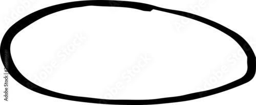 Photo  Black Horizontal oval illustration