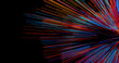 canvas print picture - Abstract big data background wallpaper design. Motion pattern texture with shine colorful lines and cubes. Modern light shiny backdrop illustration. 3D render
