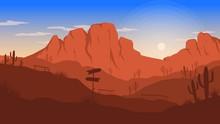 Landscape Flat Design Illustration