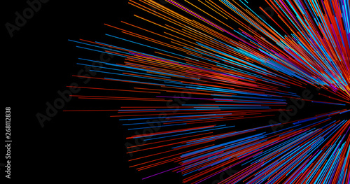 Abstract big data background wallpaper design Canvas Print