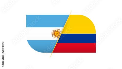 Fotografía Football competition Argentina vs Colombia.