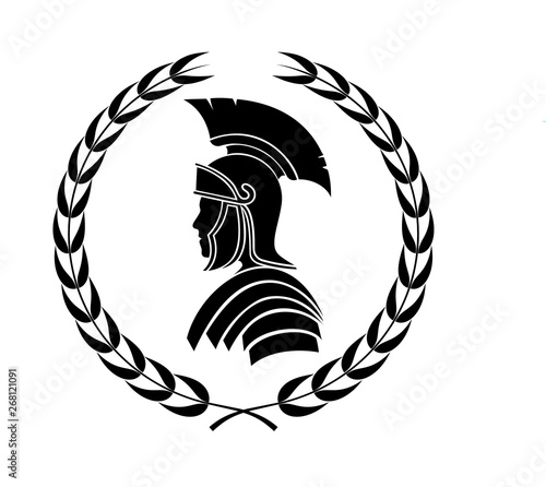 Fotografie, Obraz roman centurion icon in laurel wreath