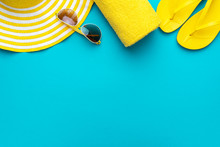 Yellow Beach Accessories On Tu...