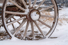 Close Up Of The Wooden Wheel O...
