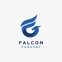 Letter F For Falcon Logo Icon Vector Template On White Background