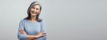 Smiling Asian Senior Woman Wit...