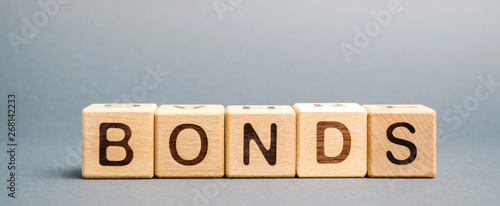 Wooden blocks with the word Bonds Canvas Print