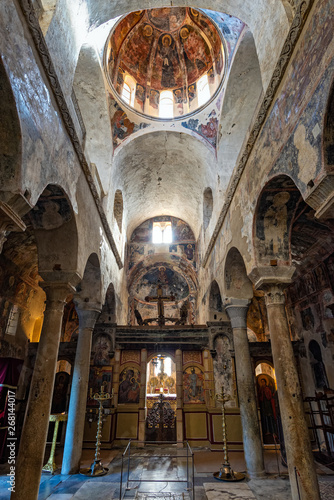 Part of the byzantine archaeological site of Mystras in Peloponnese, Greece Canvas-taulu