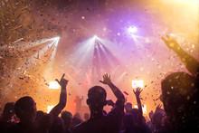 Fans Enjoying A Music Festival