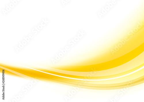 Vászonkép アブストラクト 波 背景 オレンジ