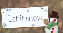 Let It Snow Snowman Happy Magi...
