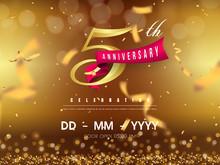 5 Years Anniversary Logo Templ...