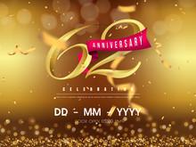 62 Years Anniversary Logo Temp...
