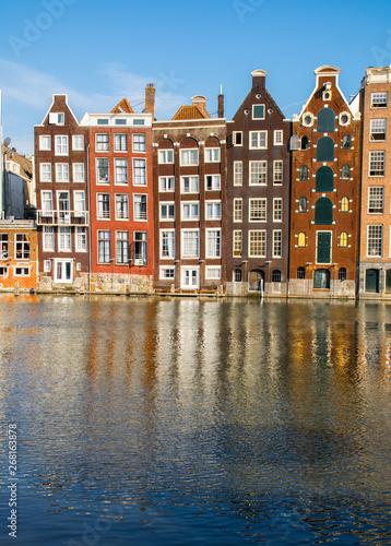 Poster Amsterdam Janelas e fachadas em Amesterdã na Holanda. coleção de janelas pelo mundo