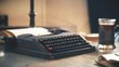 Old typewriter days of the Soviet Union.