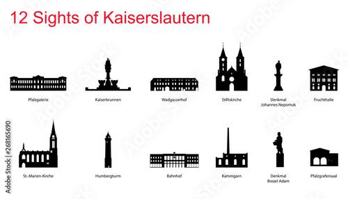 Leinwand Poster 12 Sights of Kaiserslautern