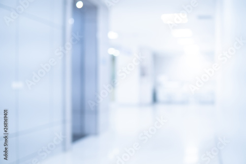 Fotografia  Abstract blur luxury hospital corridor