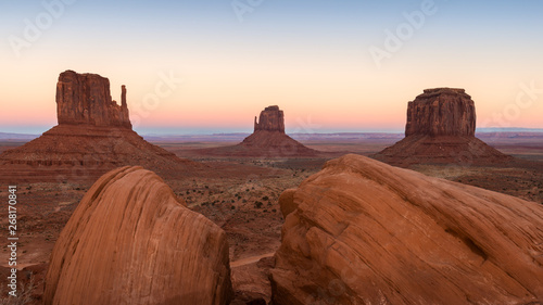 Wall Murals Magenta Monument Valley