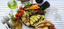 Banner Of Grilled Vegetables O...