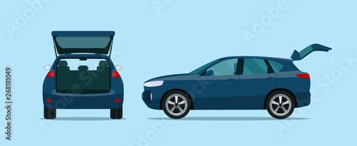 Fotografia, Obraz SUV car with open boot