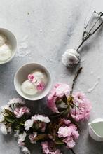 Ice Cream And Cherry Blossoms