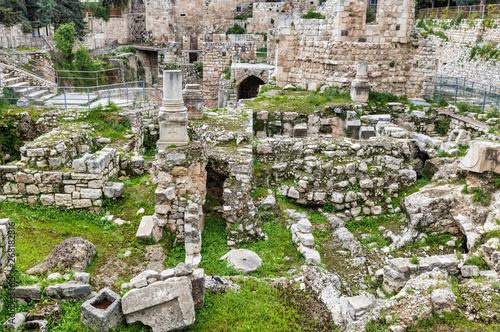 фотография Jerusalem - The ruins of Bethesda pool.
