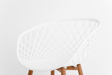 Minimalist Chair Isolated Over...