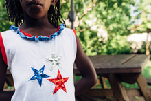 Black Girl Wearing USA Themed ...