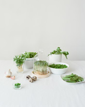Green Plants On White Table