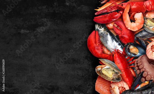 Seafood Background Canvas-taulu