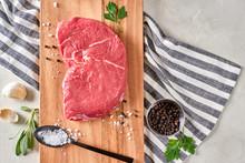 Raw Grass Fed Strip Steak Meal Preparation
