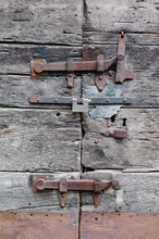 Lock On Vintage Door