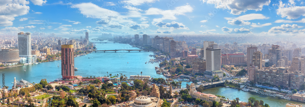 Fototapety, obrazy: Beautiful panoramic view of Cairo city, Egypt