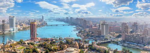 Foto auf Leinwand Grau Beautiful panoramic view of Cairo city, Egypt