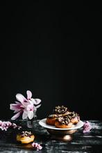 Chocolate Walnut Donuts
