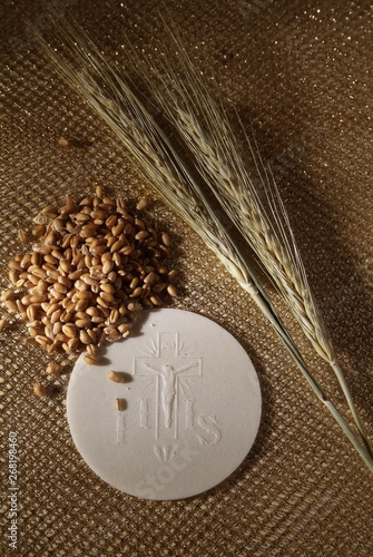 Fotografie, Obraz  Sacrament of communion, Eucharist symbol