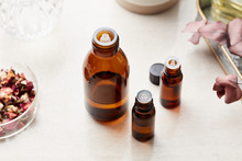 Essential Oils In Bottles.