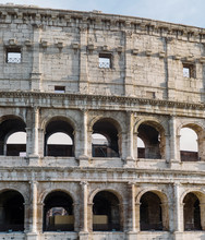 Part Of The Wall Of The Coliseum.