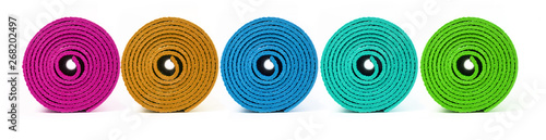 Obraz Rolled up yoga mat - fototapety do salonu